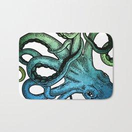 Octopus, Ocean Bue, Sea Green, Tentacles Bath Mat