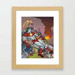 The Death of Captain Planet Framed Art Print