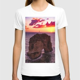 Sunset Rock Island (Color) T-shirt