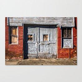 In the Door Series, wooden weather beaten textured doors Canvas Print