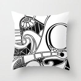 Retro Beat Throw Pillow