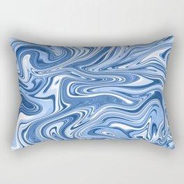 Classic Blue Swirls Rectangular Pillow