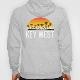 Key West Florida Sunset And Palm Trees Beach Hoody