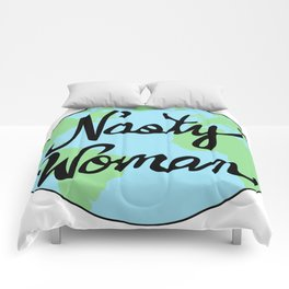 Mother Earth Nasty Woman Hand Drawn Comforters