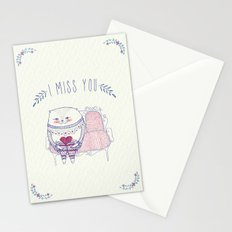 waiting cat Stationery Cards