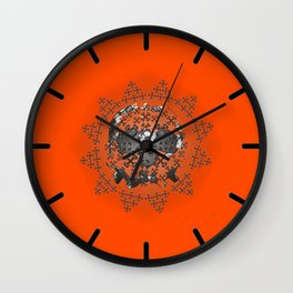 Skull and Crossbones Medallion Wall Clock