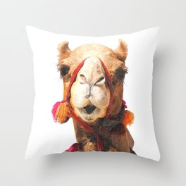 Camel Portrait Throw Pillow
