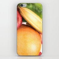 fruit iPhone & iPod Skins featuring Fruit by Ashley Jones