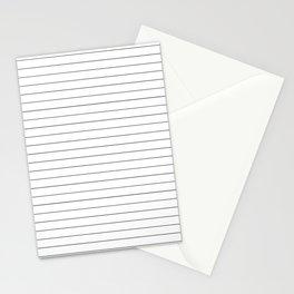 White Black Lines Minimalist Stationery Cards
