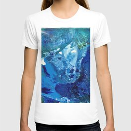 Environmental Blue Leaves, Tiny World Collection T-shirt
