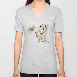 Gopher Colorful Watercolor Painting Unisex V-Neck