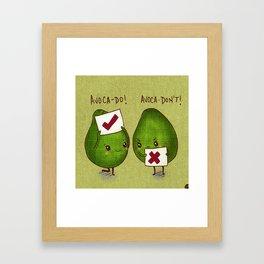 Avocadon't Framed Art Print