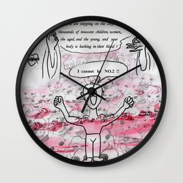 madman's declaration Wall Clock