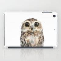 wildlife iPad Cases featuring Little Owl by Amy Hamilton