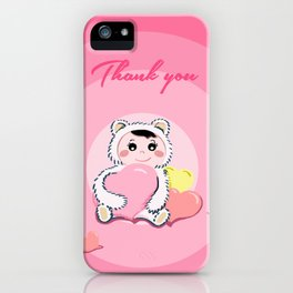 Thank you for your love2 iPhone Case