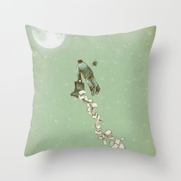 Solitary Flight Throw Pillow