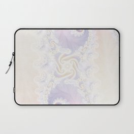 Beautiful Wedding Dress Fractal for the Princess of Pearls Laptop Sleeve