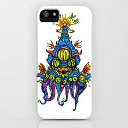 Levitating Mind Creature  iPhone Case