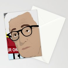Woody Allen Cartoon Stationery Cards