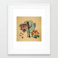 doge Framed Art Prints featuring Doge Doge woof woof by creativeleo