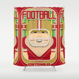 American Football Red and Gold - Enzone Puntfumbler - Sven version Shower Curtain