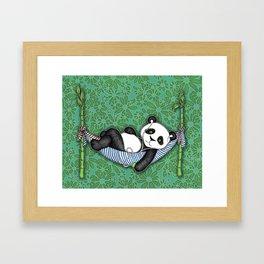 iPod Panda - The Lazy Days Framed Art Print