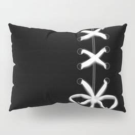 Laced White Ribbon on Black Pillow Sham
