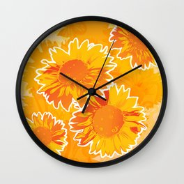 Sunflower Jubilee Wall Clock