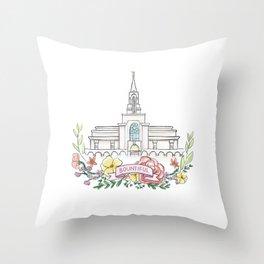 LDS Bountiful Temple  Throw Pillow