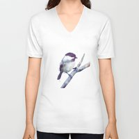 door V-neck T-shirts featuring Bird // Trust by Amy Hamilton