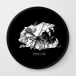 Memento Mori in Black Wall Clock