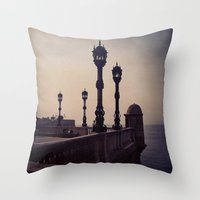 guardians Throw Pillows featuring Guardians by Out of Line