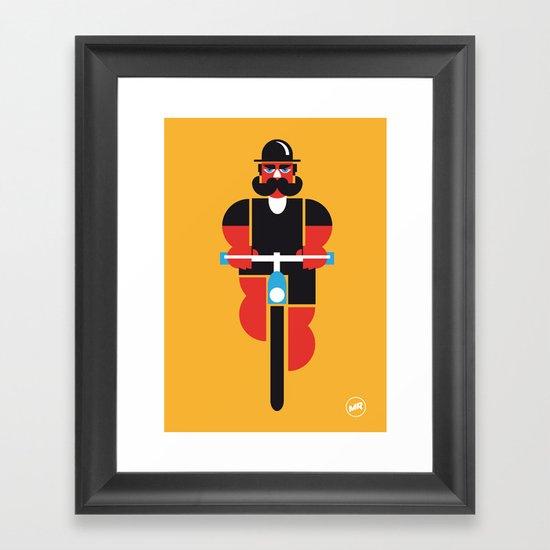 Bicycle Man Framed Art Print