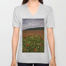 Boxley Poppy Fields Unisex V-Neck