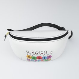 Bowler Gift SPLIT HAPPENS Funny Bowling Gift Bowling Ball and Bowling Pins Fanny Pack