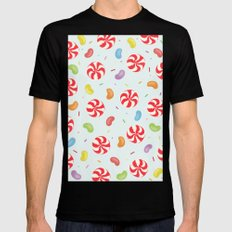 Candy Black MEDIUM Mens Fitted Tee