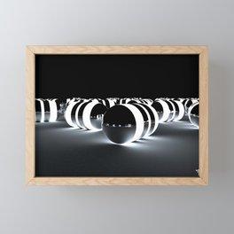 Tron Caps - Cinema 4D - Glow Light - Manafold Art Framed Mini Art Print