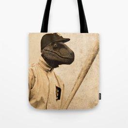 Baseball Velociraptor Tote Bag