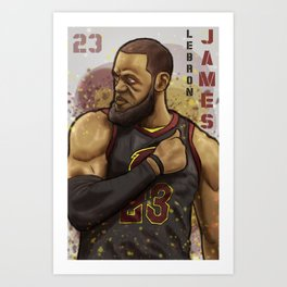 Lebron Cavs Art Print