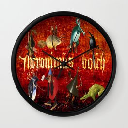 Hieronymus Bosch Collage Wall Clock