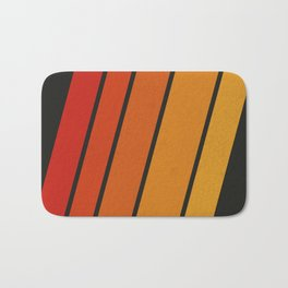 Retro 70s Stripes Bath Mat