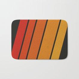 Retro 70s Stripes Bath Mat