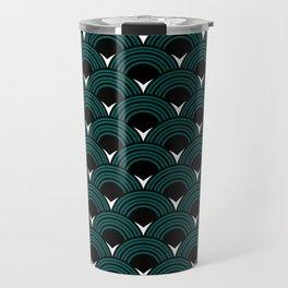 Art Deco Shell Print Travel Mug