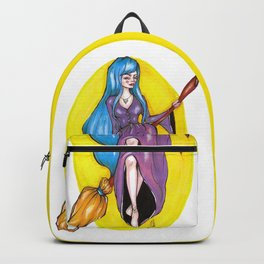 The blue haired witch Backpack