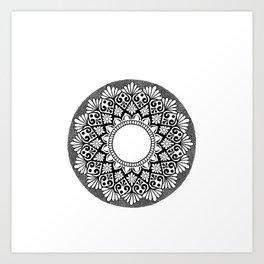 Mandala B&W Art Print
