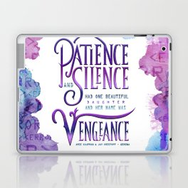 PATIENCE AND SILENCE Laptop & iPad Skin