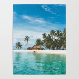 Huts on the San Blas Islands, Panama Poster