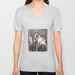 Raphael and the Fornarina Unisex V-Neck