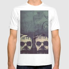 myst MEDIUM White Mens Fitted Tee