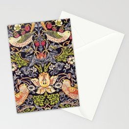 William Morris Strawberry Thief Art Nouveau Painting Stationery Cards